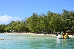 Mauritius, picturesque Ile aux cerfs in Mahebourg area Stock Photo