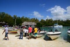 Mauritius, picturesque Ile aux cerfs in Mahebourg area Royalty Free Stock Photos