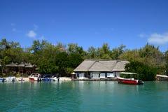 Mauritius, picturesque Ile aux cerfs in Mahebourg area Stock Images