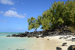 Mauritius, picturesque Ile aux cerfs in Mahebourg area Royalty Free Stock Photo