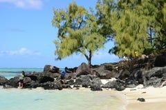 Mauritius, picturesque Ile aux cerfs in Mahebourg area Royalty Free Stock Images