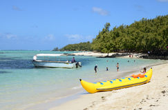 Mauritius, picturesque Ile aux cerfs in Mahebourg area Royalty Free Stock Image
