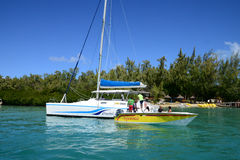 Mauritius, picturesque Ile aux cerfs in Mahebourg area Royalty Free Stock Photography