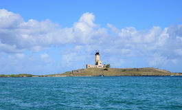 Mauritius, picturesque lighthouse island in Mahebourg aera Royalty Free Stock Photo