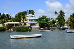 Mauritius, picturesque village of Belle Mare Royalty Free Stock Image