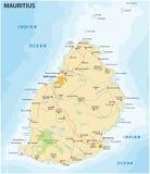 Mauritius road map Stock Photos