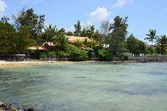 Mauritius, schilderachtig dorp van Belle Mare stock foto