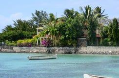 Mauritius, schilderachtig dorp van Belle Mare stock afbeelding