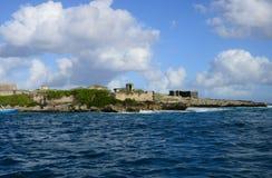 Mauritius, schilderachtig dorp van Belle Mare royalty-vrije stock afbeeldingen