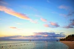 Mauritius-Sonnenuntergang stockfoto