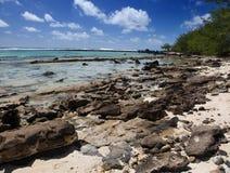 Mauritius. Stony landscape of island royalty free stock image