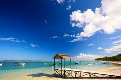 Mauritius strand Arkivfoto