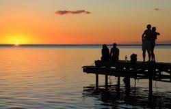 Mauritius sunset royalty free stock photo