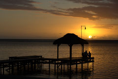 Mauritius sunset Stock Photography