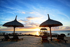 Mauritius sunset Royalty Free Stock Photos