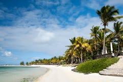 Mauritius tropisk strand Royaltyfria Bilder
