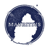 Mauritius vector map. Stock Photo