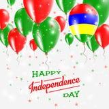 Mauritius Vector Patriotic Poster l'indépendance Illustration Libre de Droits