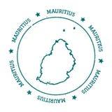 Mauritius vektoröversikt royaltyfri illustrationer