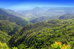 Mauritius , view of mountains against the blue sky Stock Photography