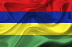 Mauritius vinkande flagga vektor illustrationer