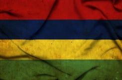 Mauritius vinkande flagga royaltyfri illustrationer