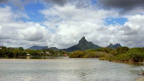 Mauritius Volcanic Island, Landscape Mountains stock images
