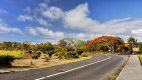 Mauritius wyspa, droga krajobraz obrazy stock
