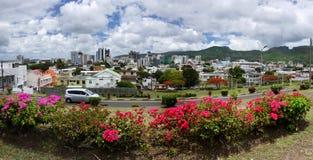 Mauritius wyspy, Port Louis miasto Panoramiczny widok zdjęcie stock