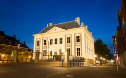 Maurits House In The Hague At Night in the Netherl Stock Photos