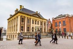 Mauritshuis或莫里斯议院美术馆在海牙,荷兰 库存照片