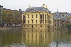 Mauritshuis, an art museum that houses the Royal Cabinet of Paintings and Dutch Golden Age paintings Stock Photos