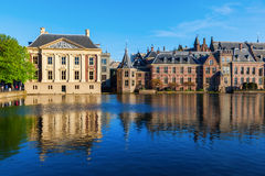 Mauritshuis and Binnenhof in The Hague, Netherlands Stock Images