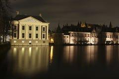Mauritshuis at the hofvijver Stock Photography