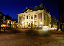 Mauritshuis by Night, The Hague stock image