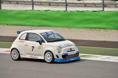 Maurizio Campani Abarth Trophy Fiat 2015 500 à Monza Image stock