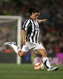 Mauro Camoranesi. Italian player Mauro Camoranesi, born in Buenos Aires, in action during the friendly match between Barcelona and Juventus at Nou Camp Stadium Stock Image