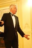 Mauro Trombetta - Italiaanse de operazanger van wereldfamouos, bariton Stock Foto