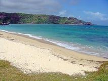Maurutius Beach. A beautiful tropical beach by the blue sea, in Mauritius Royalty Free Stock Photo