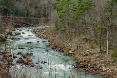 Maury River Virginia, USA royaltyfria bilder