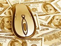 Maus auf dem Geld Lizenzfreie Stockfotografie