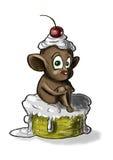 Maus auf dem Kuchen Lizenzfreies Stockbild