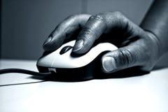 Maus in der Hand Lizenzfreies Stockfoto