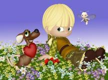 Maus in der Liebe Lizenzfreies Stockfoto