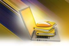 Maus mit Dateiordner Lizenzfreies Stockbild