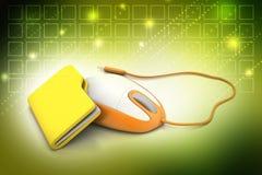 Maus mit Dateiordner Lizenzfreies Stockfoto