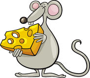 Maus mit Käse Stockfotos