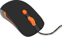Maus mit orange Rolle Lizenzfreie Stockfotografie