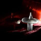 Maus-scroller dreht sich mit dem rötlichen Lichthintergrundfoto lizenzfreies stockbild