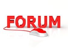 Maus und Forum Lizenzfreie Stockbilder